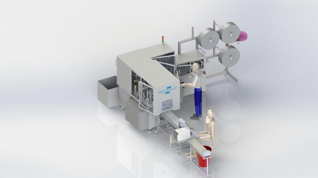 Fabrication Lignes de Production de Masques 3 plis Chirurgicaux et UNS1